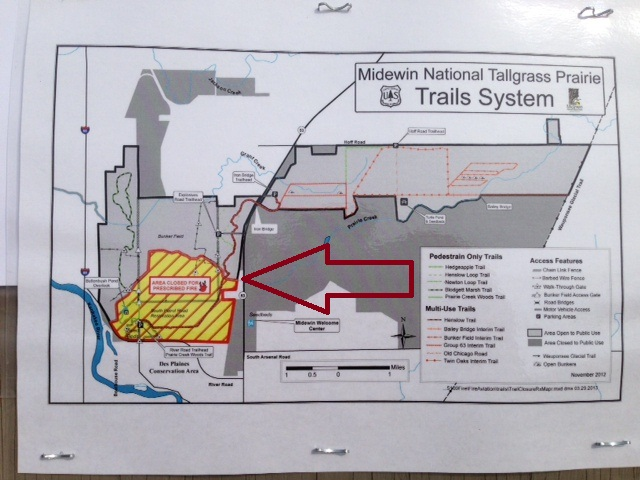 Burn area is to the left of the red arrow.